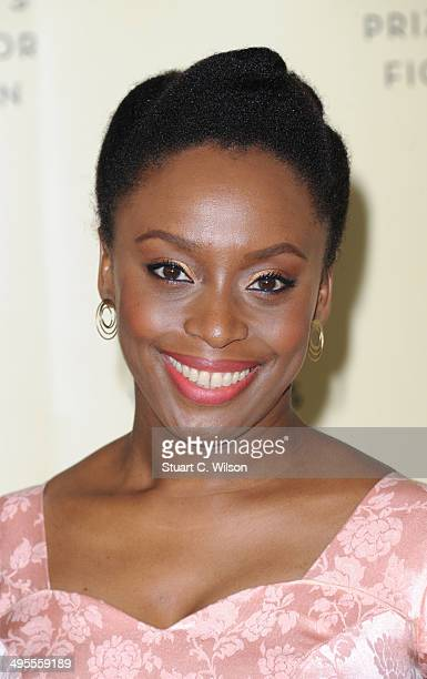 Chimamanda Ngozi Adichie is one of the Authors shortlisted for the 2014 Baileys Women's Prize For Fiction pictured at the winner announcement at the...
