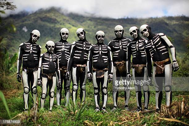 Chimbu Skeleton Dancers family portrait