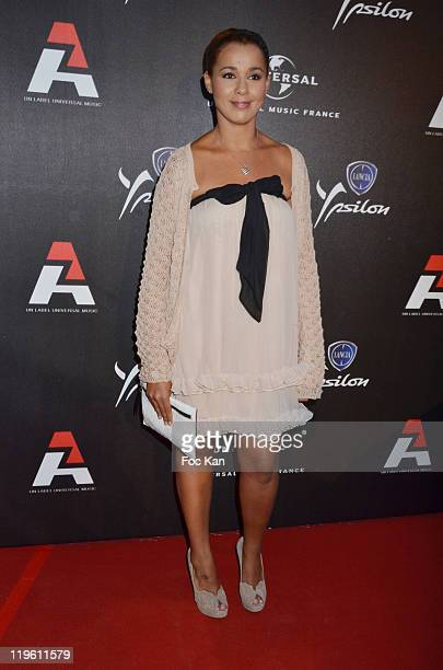 Chimene Badi attends the AZ Party at Chalet Du Lac on June 23 2011 in Paris France