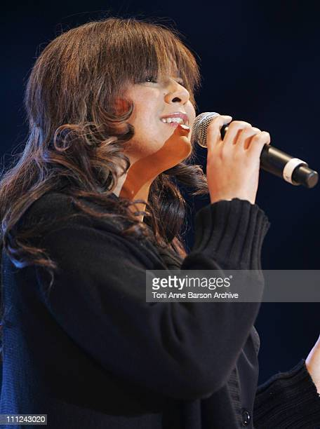 Chimene Badi during Concert des Pieces Jaunes a Nice Yellow Coins Concert to Help Children in Hospitals at Theatre de Verdure in Nice France