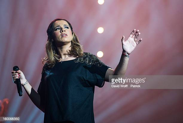 Chimene Badi performs at L'Olympia on January 25 2013 in Paris France