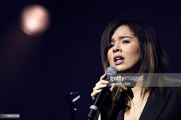 Chimene Badi performs at the Grand Casino in Geneve Switzerland on March 14th 2005