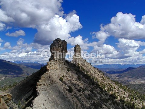 Chimney Rock Archaeological Area : Stock Photo