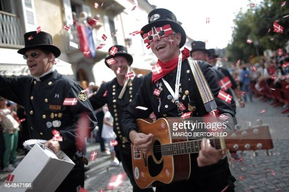 Chimney Sweeps From Denmark Play Music And Sing During A