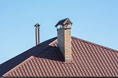 Chimneys on the roof
