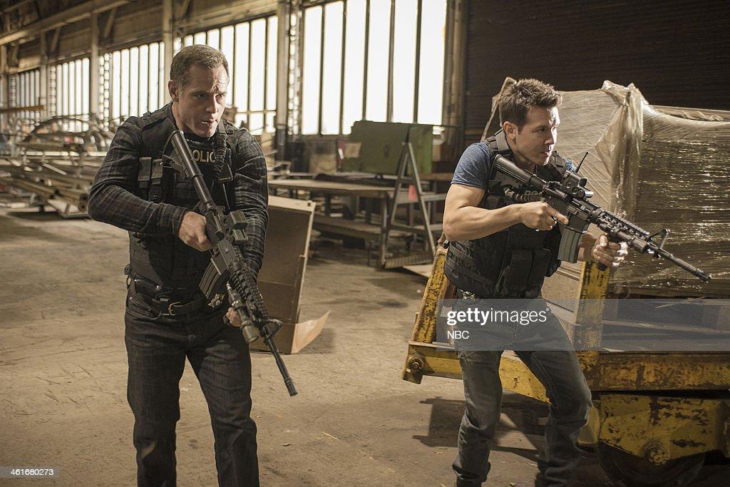 D 'Chin Check' Episode 103 Pictured Jason Beghe as Hank Voight Jon Seda as Antonio Dawson
