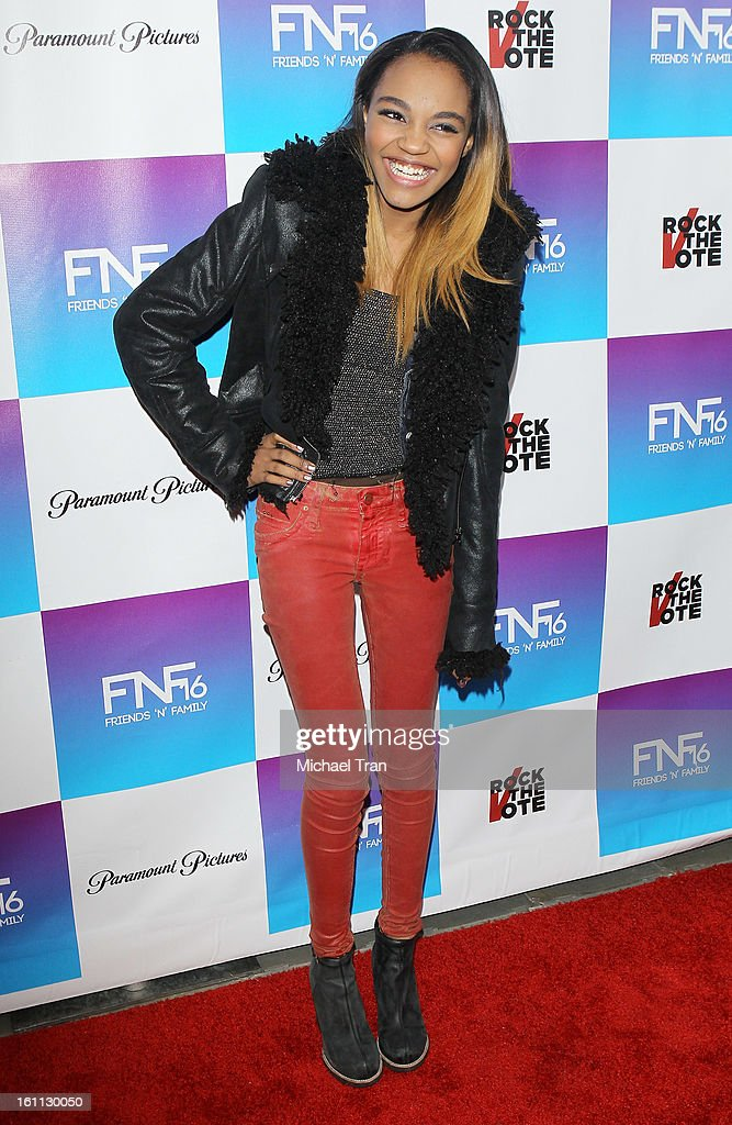 China Anne McClain arrives at the 16th Annual 'Friends And Family' pre-GRAMMY event held at Paramount Studios on February 8, 2013 in Hollywood, California.