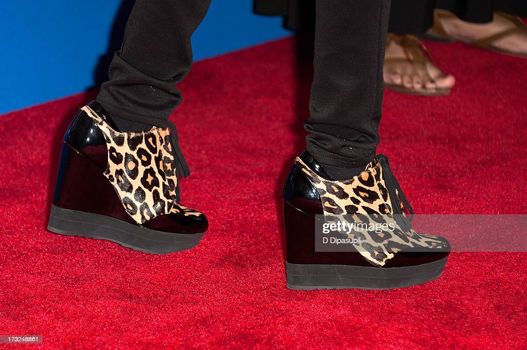 China Anne McClain (shoe detail) attends the 'Grown Ups 2' New York Premiere at AMC Lincoln Square Theater on July 10, 2013 in New York City.