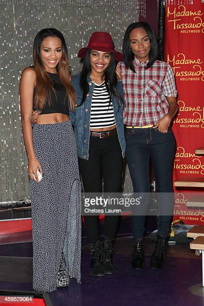 China Anne McClain Sierra McClain and Lauryn McClain of the McClain sisters attend the launch of Madame Tussauds Hollywood's figures of global chart...