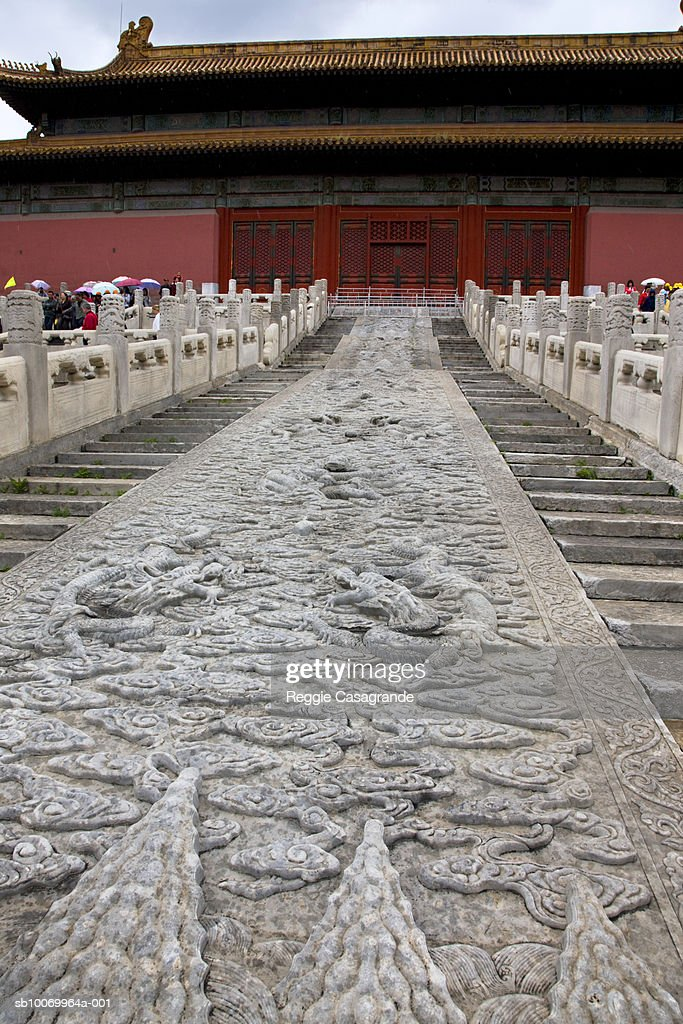 China, Beijing, entrance to Tiananmen Square : Stock Photo