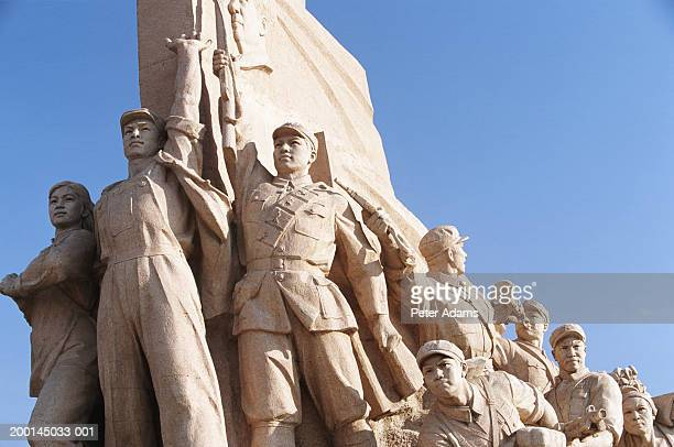 China, Beijing, monument in Tiananmen Square, low angle view