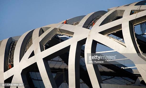 China, Beijing, Olympic stadium under construction