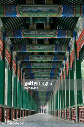 China beijing summer palace decorative corridor stock photo getty images - Decoratie corridor ...