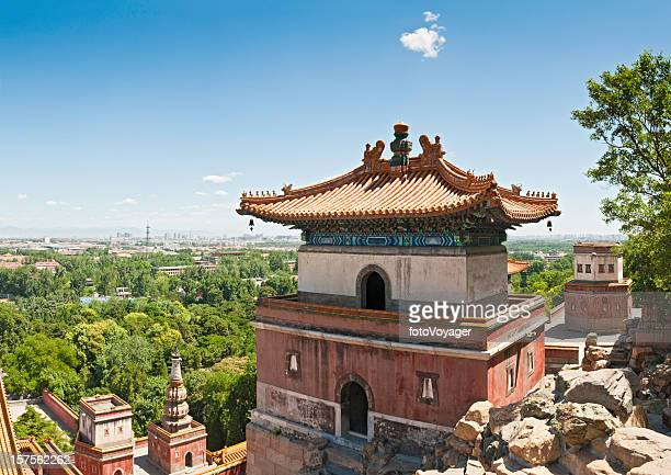 China Beijing temples pagodas cityscape northern suburbs Summer Palace