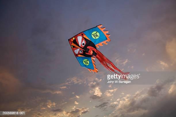 China, Beijing, Tiananmem Square, kite in air, sunset