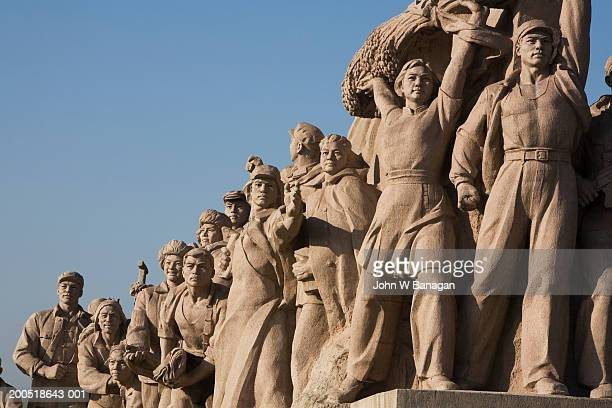 China, Beijing, Tiananmen Square, statue, close-up
