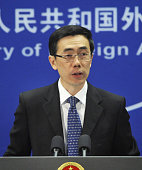 BEIJING China Chinese Foreign Ministry spokesman Liu Weimin speaks during a press conference in Beijing on Dec 13 2011 Liu said China regrets what it...