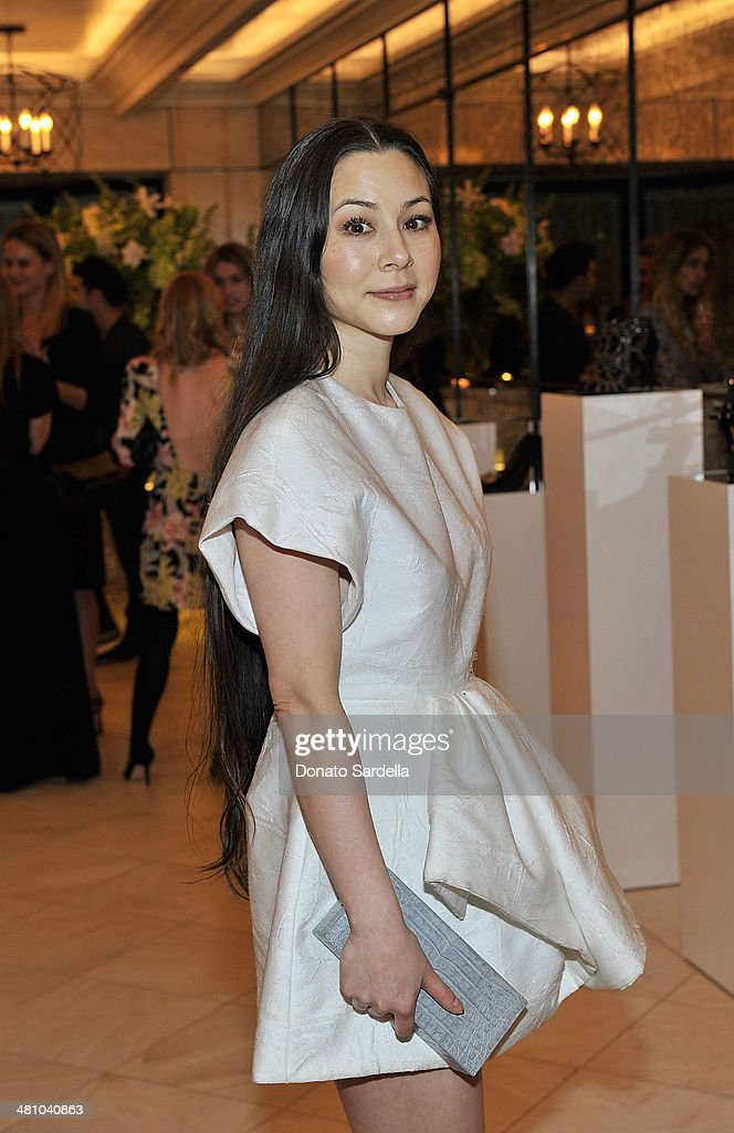<a gi-track='captionPersonalityLinkClicked' href=/galleries/search?phrase=China+Chow&family=editorial&specificpeople=581526 ng-click='$event.stopPropagation()'>China Chow</a> attends Nicholas Kirkwood dinner hosted by Emma Roberts and Jake Shears at Hotel Bel-Air on March 27, 2014 in Los Angeles, California.