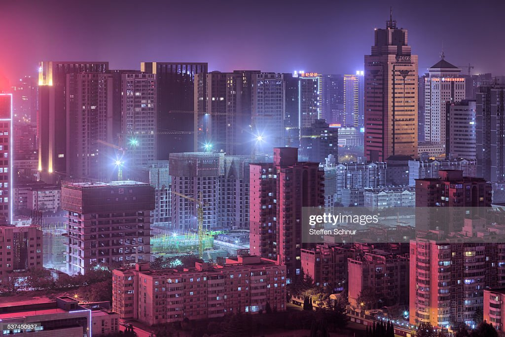 China city growth in the red light