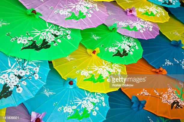 China, City of Fengdu, Fengdu Ghost City, Mingshan, Souvenir Paper Umbrellas