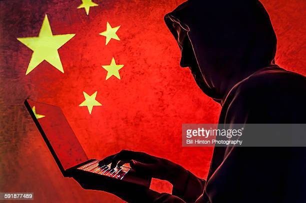 China Flag Cyber Hacker