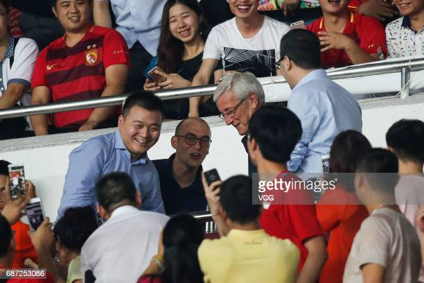China football national team manager Marcello Lippi and Guangzhou Evergrande player Kim Younggwon arrive to watch the 2017 AFC Champions League...