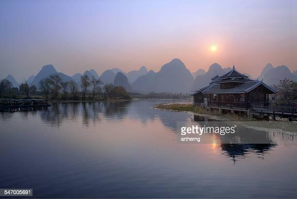 China, Guangxi, Guilin, Yangshuo County, Shangri-La Park (Shi Wai Tao Yuan)