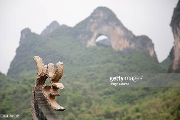 China, guangxi province, yangshuo, view of moon hill