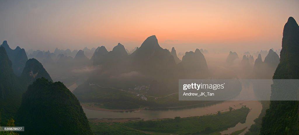 China, Henan, Sunrise at Guilin