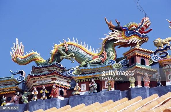China Hong Kong Cheung Chau Island Roof of Pak Tai Temple