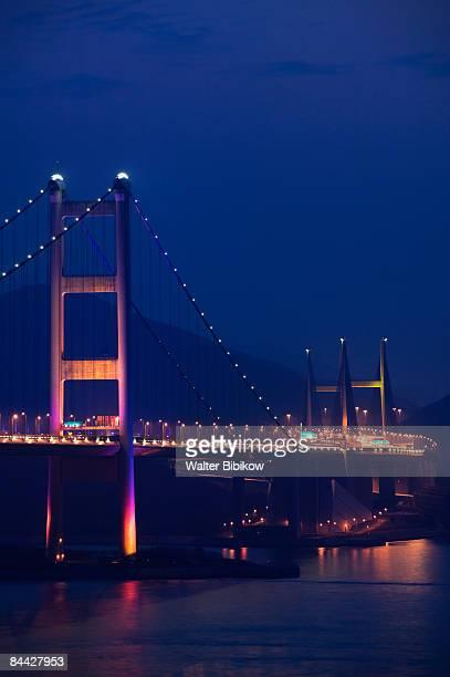 China, Hong Kong, New Territories, Tsing Ma Bridge