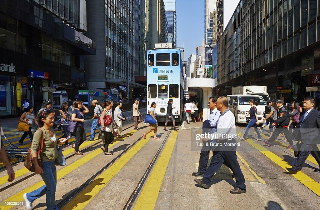 China, Hong-Kong, Des Voeux Road Central : Stock Photo