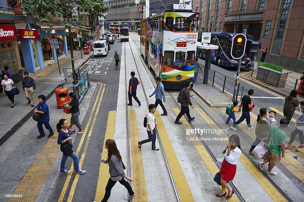 China, Hong-Kong, Queensway : Stock Photo