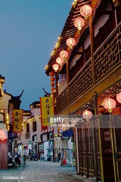 China, Jiangsu province ,Tongli, shops in street