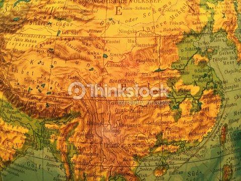 Globus Karte.China Karte Alter Globus Weltkarte Stock Photo Thinkstock