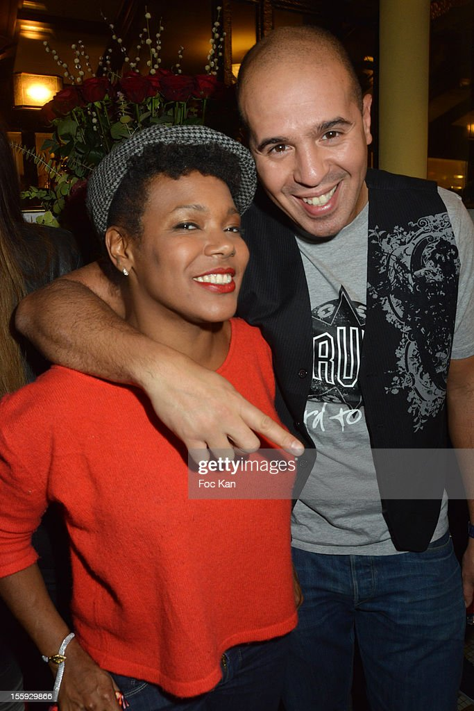 China Moses and DJ Cut Killer attend the 'Prix De Flore 2012' - Literary Award Ceremony Party at the Cafe de Flore on November 8, 2012 in Paris, France.