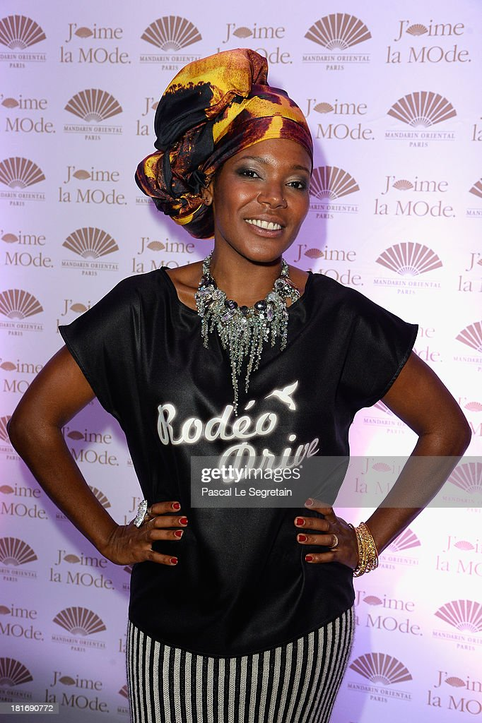 China Moses attends the 'J'Aime La Mode' Cocktail Event Hosted by Chef Thierry Marx at Hotel Mandarin Oriental on September 23, 2013 in Paris, France.