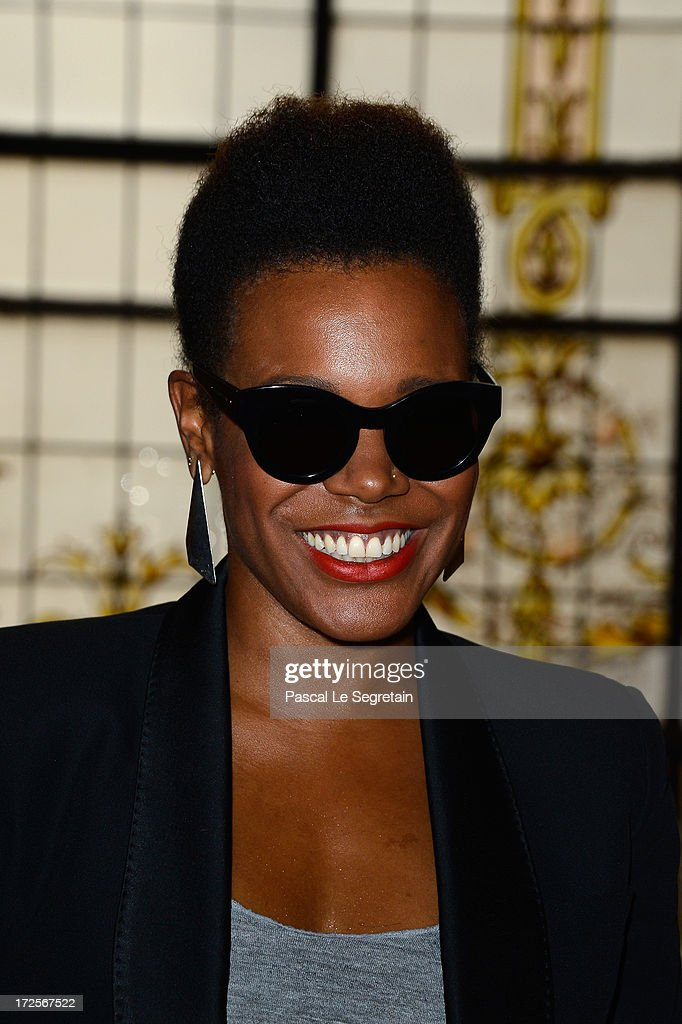 China Moses attends the Jean Paul Gaultier show as part of Paris Fashion Week Haute-Couture Fall/Winter 2013-2014 at 325 Rue Saint Martin on July 3, 2013 in Paris, France.