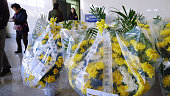 DANDONG China Photo taken on Dec 22 shows flowers placed at Dandong station China People brought them while heading for Pyongyang following news that...