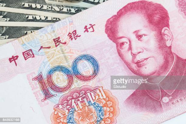 China RMB bank note are arranged for a photograph on 11 September 2017 in Hong Kong Hong Kong Photo by