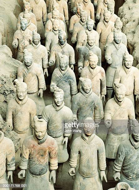 China, Shaanxi, Xian, Tomb of Qin Shinhuang, terracotta soldiers