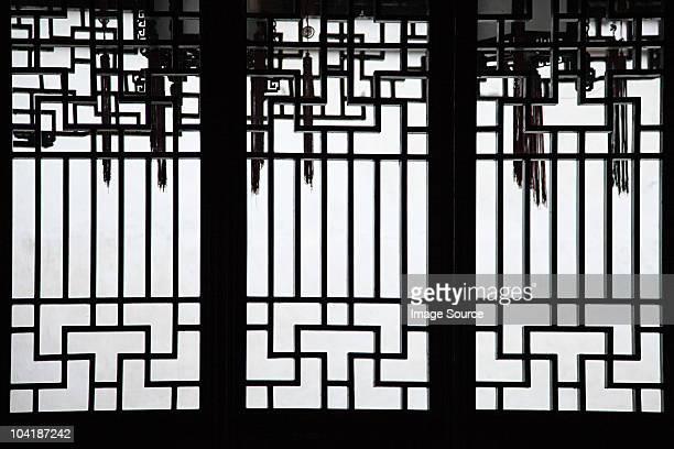 China, shanghai, detail of building in yu garden