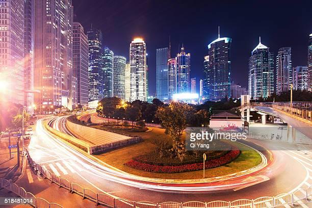 China Shanghai night architecture