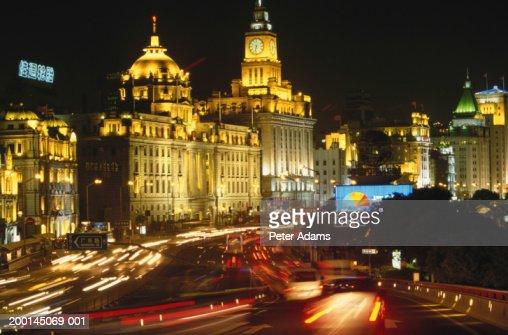 China, Shanghai, The Bund, night (long exposure)
