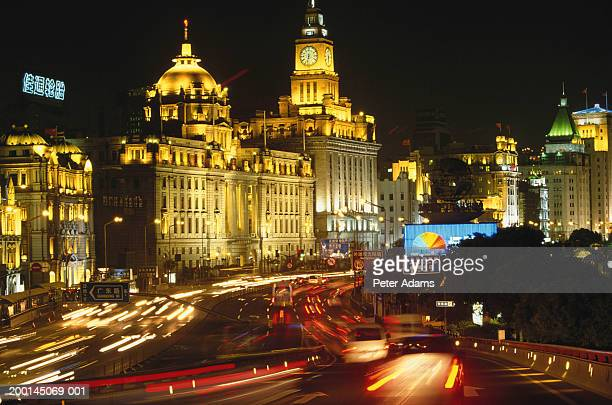 China, Shanghai, The Bund, night (long exposure)