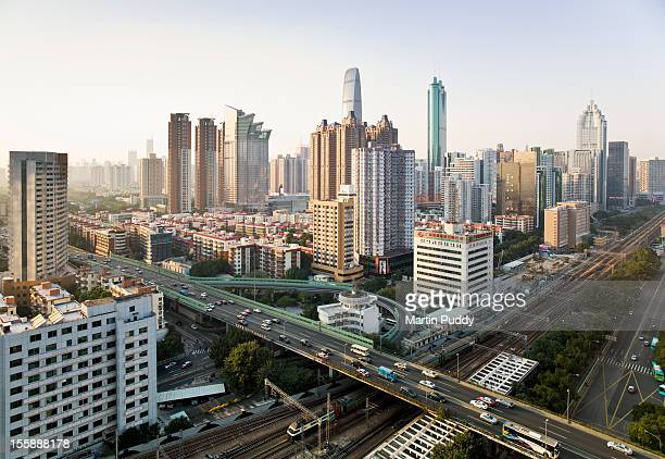 China, Shenzen skyline, elevated view