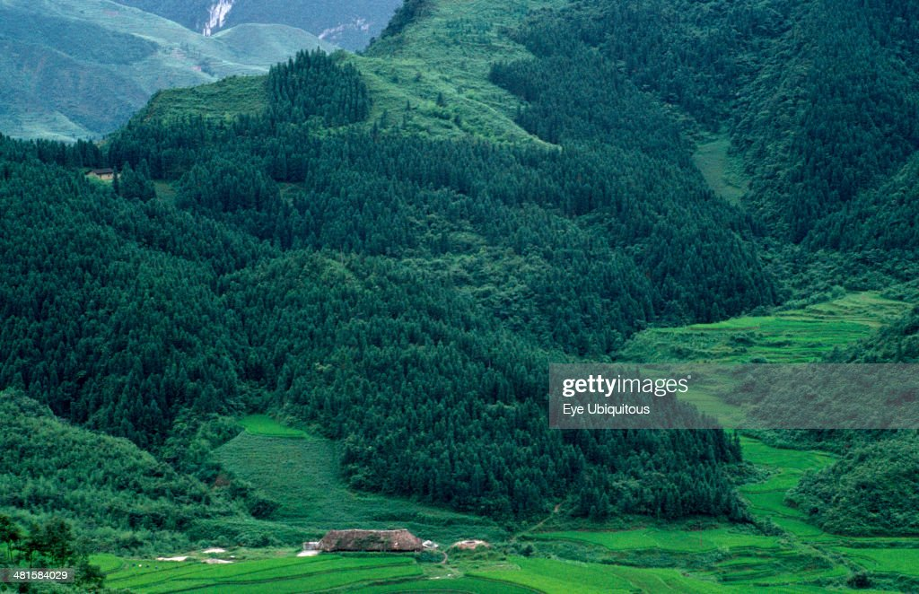 China Sichuan Gongxian County Landscape with reforestation project area