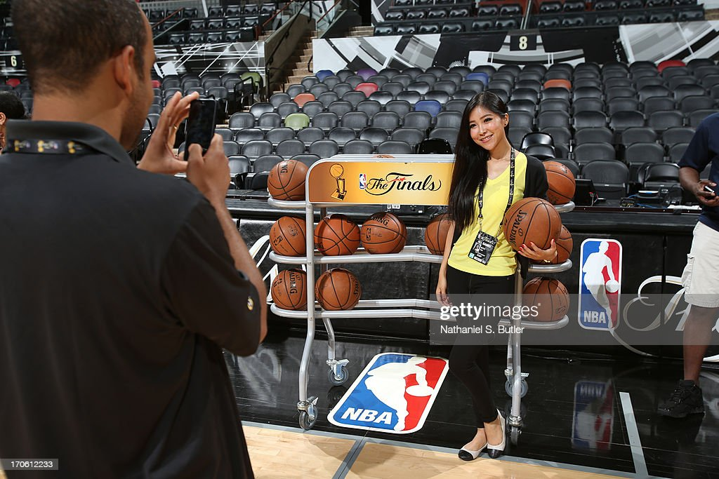 NBA China Social Media Reporter Betty Zhou poses for a photo during media availability as part of the 2013 NBA Finals on June 15, 2013 at AT&T Center in San Antonio, Texas.