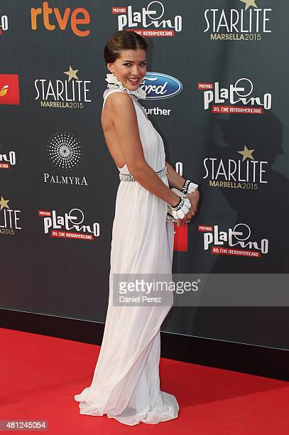 China Suarez girlfriend of David Bisbal attends TNTLA Platino Awards 2015 at Starlight Marbella on July 18 2015 in Marbella Spain