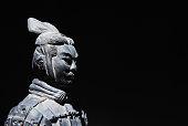 China Terracotta Statue Background